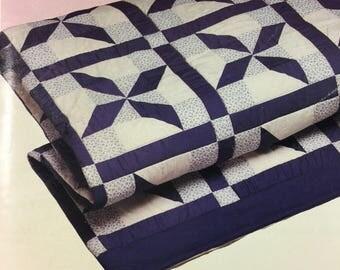 blue king size quilt etsy. Black Bedroom Furniture Sets. Home Design Ideas