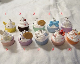 Kawaii Cupcake Necklace Pendants
