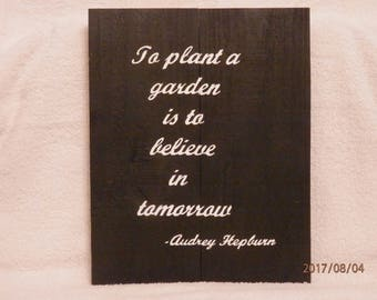 To Plant A Garden Sign, Pallet Sign, Wall Decor