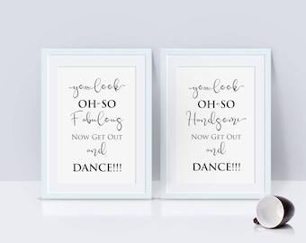 Wedding Bathroom Signs, Men's Bathroom Sign, his and hers bathroom signs, wedding sign, Look oh so, womens and mens restroom, Pdf Template