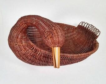 Wicker Duck Basket