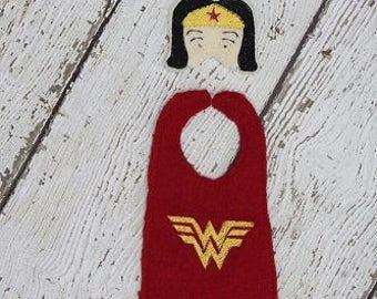 Wonder Girl Elf Face Mask and Elf Cape Embroidery Design