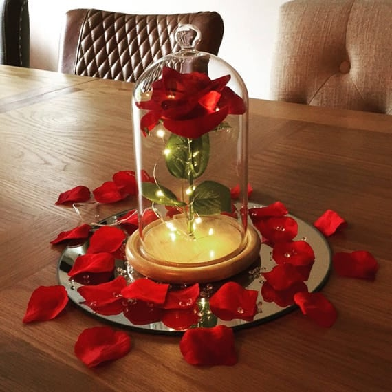 Beauty And Beast Rose Jar