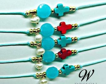 Adjustable cross bracelets (each)