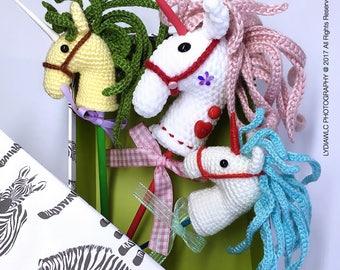 English: Crochet Pattern - EE Unicorn Hobby Horse