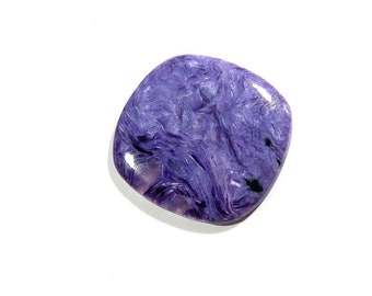 Charoite Cabochon Cushion Loose Gemstones Calibrated Size Gems Top AAA Quality Natural Charoite Gemstone For Jewelry Making 35X33X4mm 47Cts