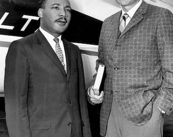 Rev. Billy Graham with Rev. Martin Luther King, Jr. - 5X7, 8X10 or 11X14 Photo (AZ-414)