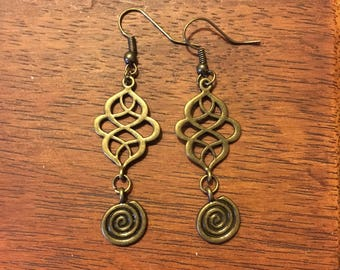 Soul Growth Brass Chandelier Earrings
