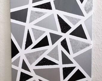 Abstract Geometric Canvas Art