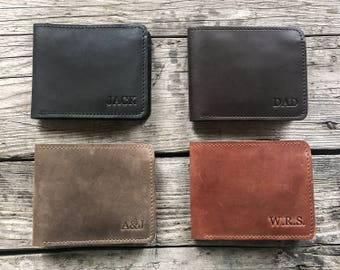 Mens wallet Mens leather wallet Personalized wallet Groomsmen gift Bifold wallet Slim wallet Personalized leather wallet Monogram wallet.