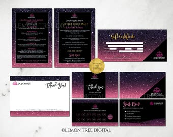 Paparazzi Business Cards Bundle, Paparazzi Marketing Branding Kit, Paparazzi Jewelry Consultant, Black, Purple, Glitter
