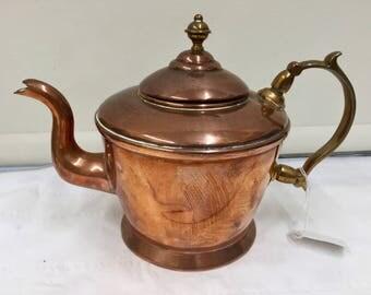 Victorian Copper Tea Kettle