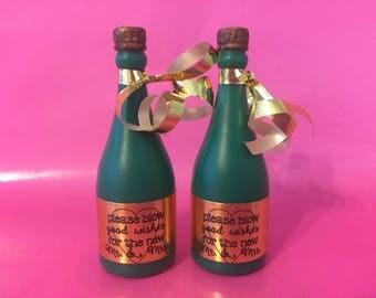 wedding bubble champagne bottles custom wedding bubbles wedding bubble sendoff wedding favors bubbles for
