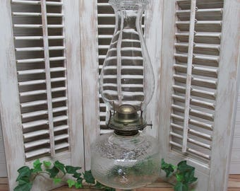 Antique Eagle Oil Lamp/ Eagle Burner Oil Hurricane Lamp/Kerosene Lamp