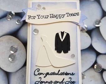 Happy tears, tissue box holder, wedding