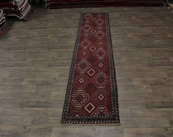 Spectacular Rare Runner Ghoochan Turkoman Persian Area Rug Oriental Carpet 3X13