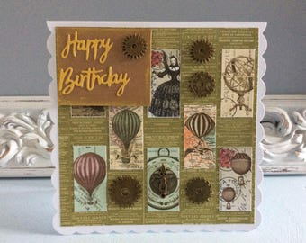 Steampunk style Birthday Card
