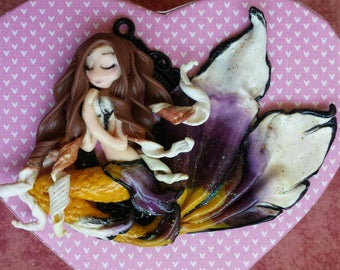 Siren of fimo, clay polymer