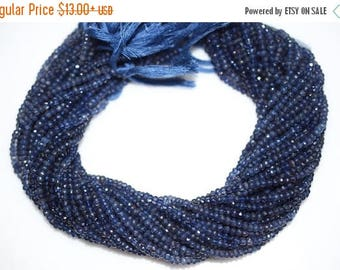 50% OFF Iolite Faceted Rondelle Beads 13 Inch Strand ,Iolite Beads, Iolite Roundel Beads , 3.50 mm - MC345