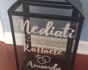Custom made wedding card box/lantern