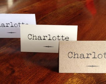 Personalised Wedding Place Cards x 10