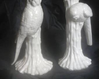 Pair of Fitz &Floyd Parrot candle holders