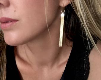 14K Gold-filled Tassel Earrings