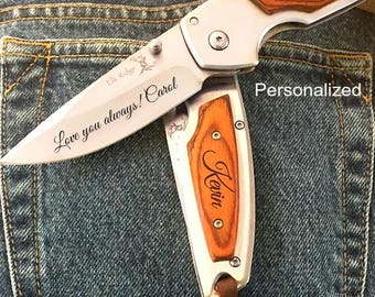 gift for him • gift for husband • gift for boyfriend • engraved pocket knife • personalized gift for him • personalized pocket knife • gift