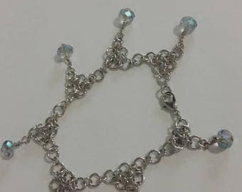 Bubble beaded Chainmaille Bracelet