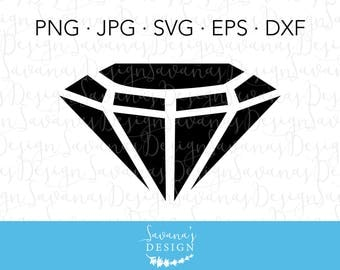 Gemstone SVG, Diamond SVG, Gem SVG, Jewel Svg, Diamond Clipart, Gem Clipart, Silhouette Cut File, Cricut Svg Cut File, Svg, Dxf, Cut File