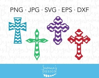 Chevron Cross SVG, Cross Cut Files, SVG Cross, Cross SVG Files for Cricut, Cricut Cross, Cross Dxf, Cross Eps, Cross Png, Svg Cross Design