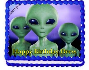 Alien cake topper | Etsy