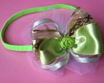 Princess Green and Golden Headband