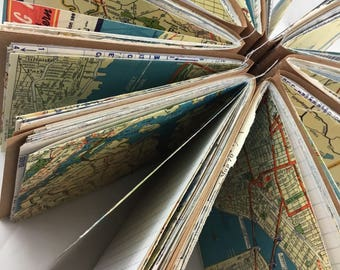 Travel Themed Junk Journal, Smashbook, Art Journal, Journal, Vintage Paper, Ephemera, Scrapbook TM365