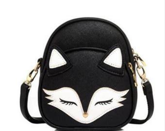 Cute Fox Face Mini Bags