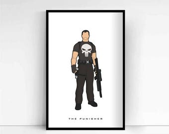 The Punisher 'Minimalist' A4 Print