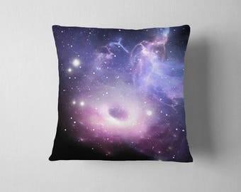 2 Galaxy Cushion Covers, Cosmos, Space Throw Pillow, Cosmos Pillow Cases, Space Cushion Covers