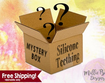 Silicone Mystery Grab Bag | Teething Mystery Box | Silicone Teething Necklace Toy Grab Bag | Surprise Pacifier Clip | Teething Bracelet Toys
