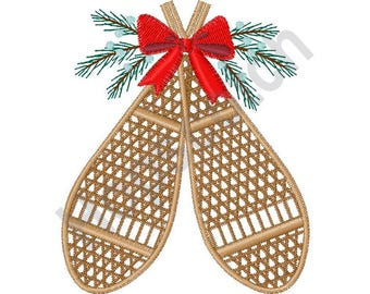 Winter Snowshoes - Machine Embroidery Design