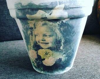 shabby Terra cotta flower pot