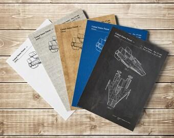 Star Wars RZ-1, A-Wing Starfighter, Starwars Poster, Star Wars Poster, Starwars Printable,Star Wars Patent,Star Wars Decor, INSTANT DOWNLOAD