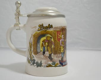 Stroh's Lidded Beer Stein Mug Bavaria Collection 3