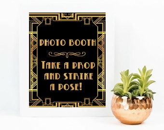 Great Gatsby Decorations, The Great Gatsby Birthday Decorations, Great Gatsby Party Decor, Gatsby Birthday Decor, Gatsby Photobooth