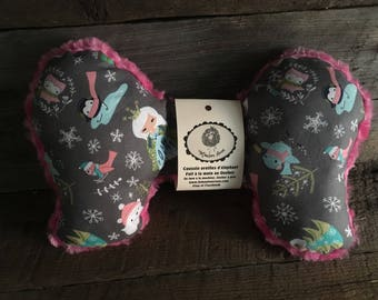 Elephant ears head cushion in the car seat swing baby pink Princess Queen snow Penguin minky OWL