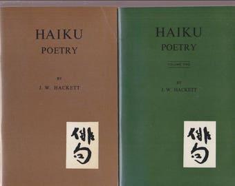 HAIKU POETRY by J.W. HACKETT 2 volumes / Hokuseido Press 1st 1964 & 1966