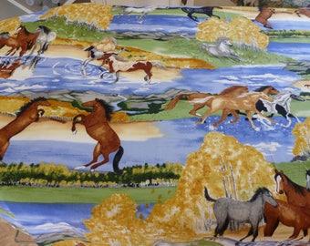 horse fabric print 1 yd