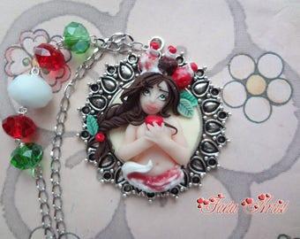 Cherry Ice Cream Girl necklace