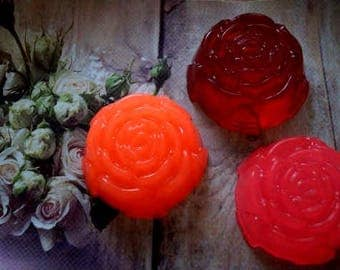 Natural soap Homemade soap Bath and body organic soap Glycerin soap Gifts for her Gift for Mom mint thyme Soap ''Rose'' handmade soap
