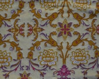 Coupon printed cotton velvet Baroque 63 x 90 cm Laura Ashley 2001