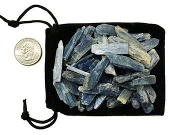 1/4 Pound of Small Blue Kyanite Blades from Brazil - Natural Kyanite - Chakra, Reiki, Crystal Healing